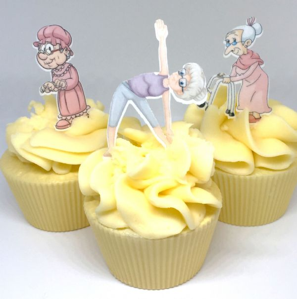 Old Lady edible cake topper